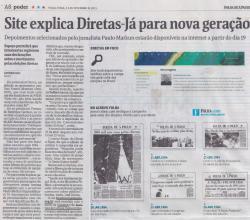 Site explica Diretas-Já para nova geração | Brado Retumbante
